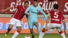 Deulofeu fue el mejor del Barcelona en La Condomina. (AFP)