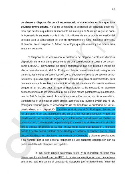 Escrito de Ignacio González presentado en el caso Lezo.