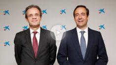Jordi Gual, presidente de CaixaBank y Gonzalo Gortázar, consejero delegado