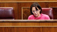 Carolina Bescansa en su escaño en el Congreso de los Diputados. (Foto: EFE)