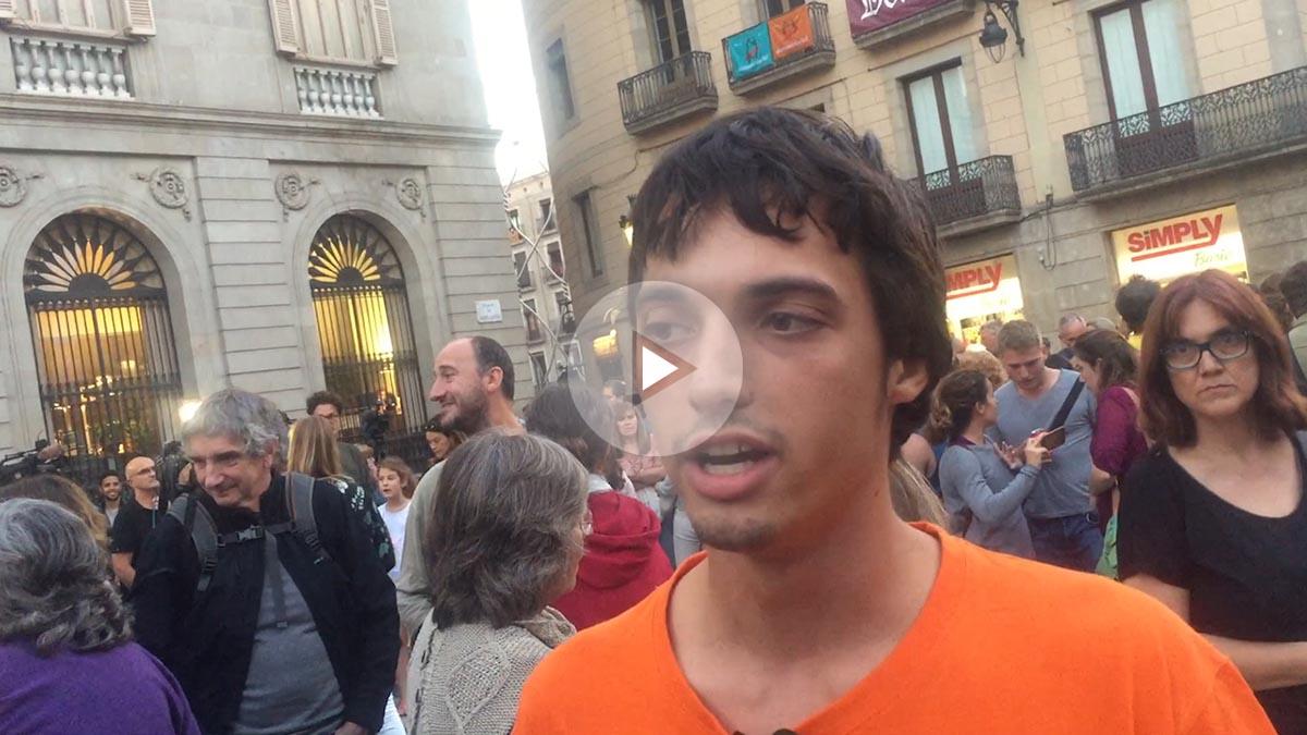 Manifestación por la educación en la Plaza Sant Jaume.