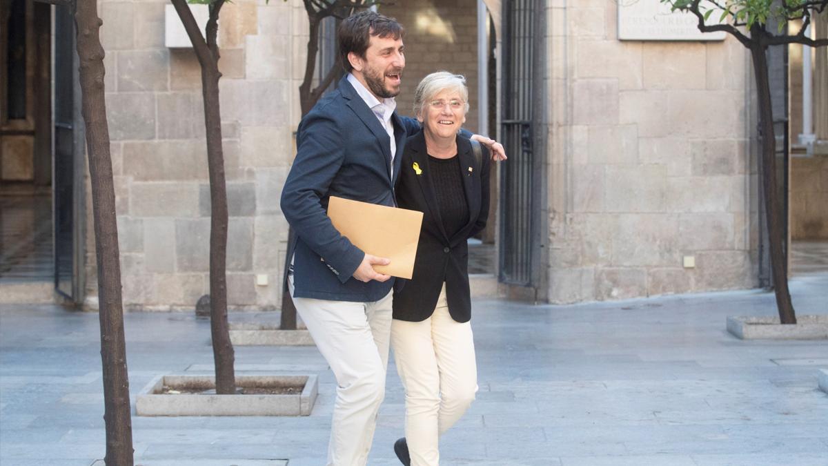 Antoni Comín y Clara Ponsatí. (Foto: EFE)
