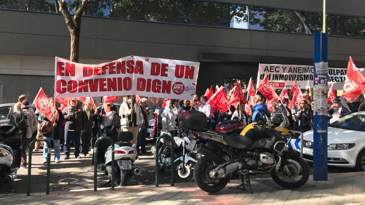 Manifestación de UGT y CCOO del sector de informática y consultoría (Foto: UGT).