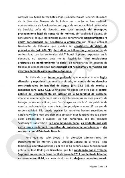 Recurso de apelación presentado en la Audiencia Provincial de Barcelona.