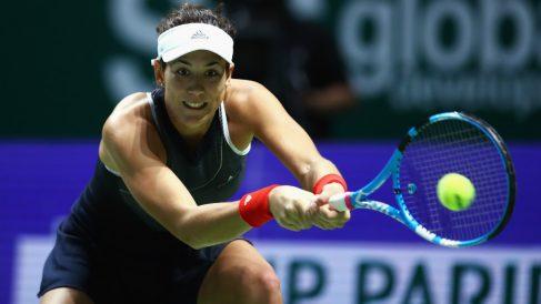 Garbiñe, en el partido ante Venus Williams. (Getty)