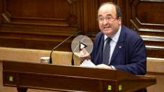 Miquel Iceta en el Parlament (Foto: Efe).