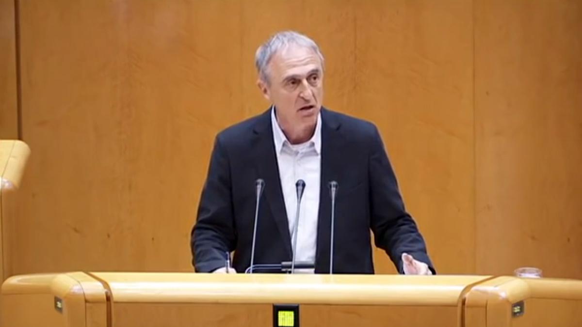 Miquel Angel Estradé, portavoz de ERC en el Senado.