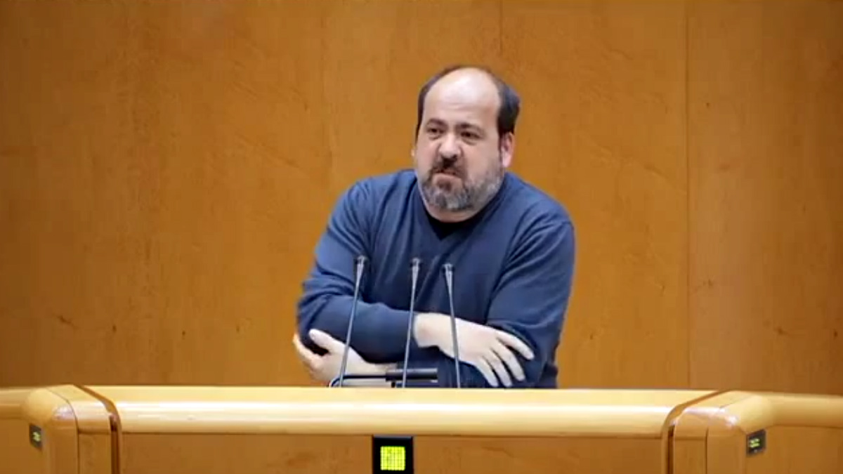 Óscar Guardingo, portavoz de Podemos en el Senado.