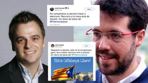 Jordi Cuminal y Albert Batalla se dan de baja del PDeCAT