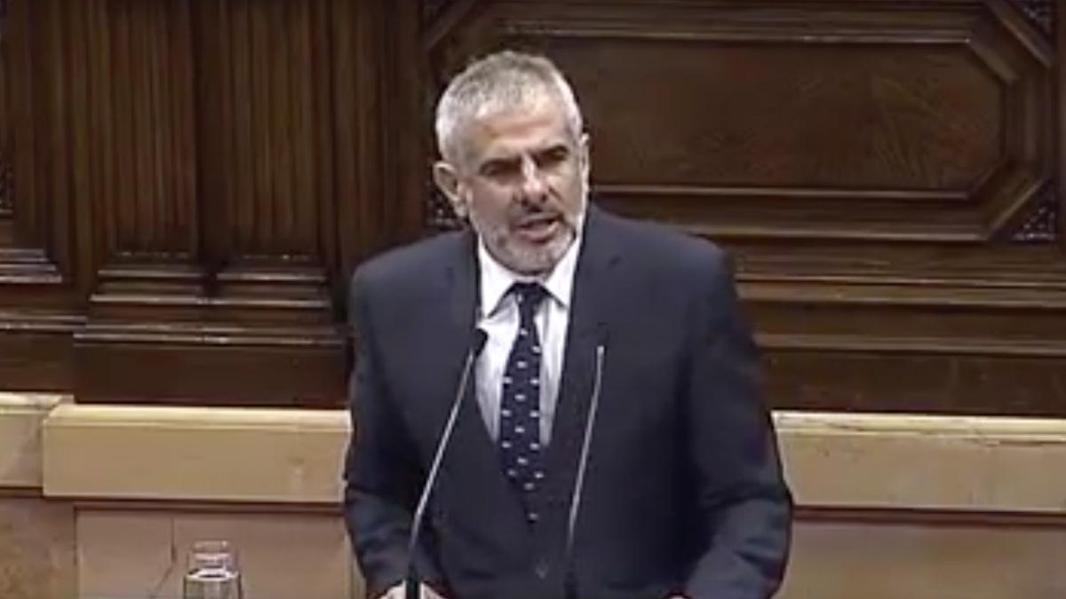 Carlos Carrizosa, portavoz de C's en el Parlament.