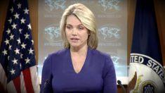 Heather Nauert, portavoz del Departamento de Estado de EEUU.