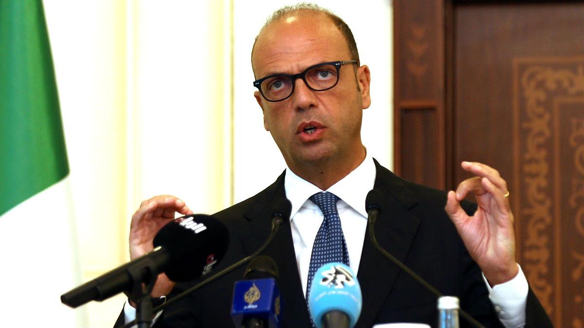 El ministro italiano de Exteriores Angelino Alfano (Foto: AFP).