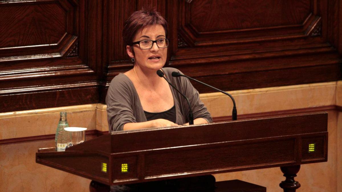 Marta Ribas, portavoz de SíQueEsPot en el Parlament.