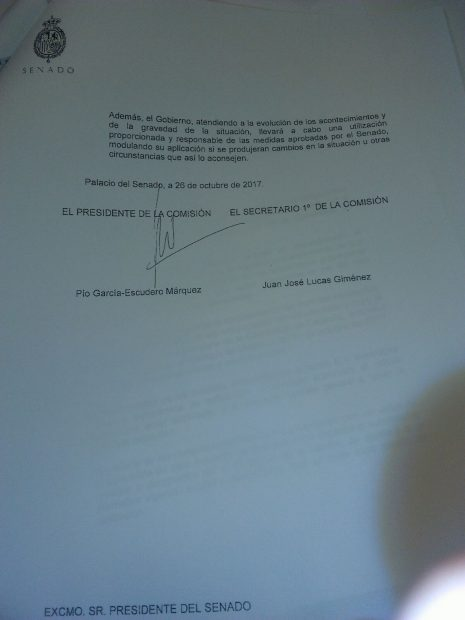 Así fue la aprobación del artículo 155 en respuesta a la DUI del Parlament