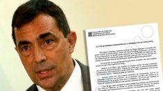 Pere Soler y la carta de despedida a los Mossos.