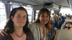 Francesca Guardiola, a la derecha. (Twitter)