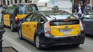 Un taxi en Barcelona.