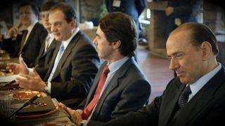 José María Aznar, durante su segunda legislatura, en una cumbre de líderes populares europeos en Atenas. (Getty)