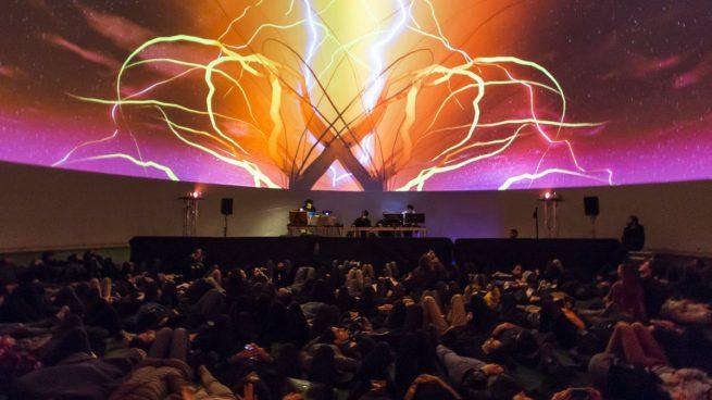 Una proyeccion 360º en el MIRA Dome del festival MIRA.