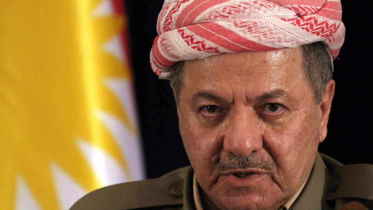 Masud Barzani, ex presidente y líder independentista de la región del Kurdistán iraquí.