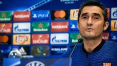 Valverde, en rueda de prensa. (Getty)