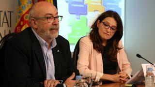 Manuel Alcaraz y Mónica Oltra