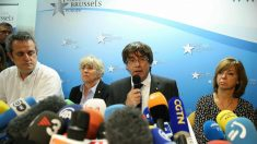 Carles Puigdemont en Bruselas (Foto: AFP)