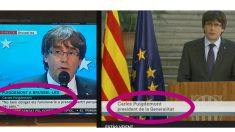 TV3 ya no rotula a Puigdemont como president del Govern.