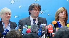Carles Puigdemont, este martes, desde Bruselas.