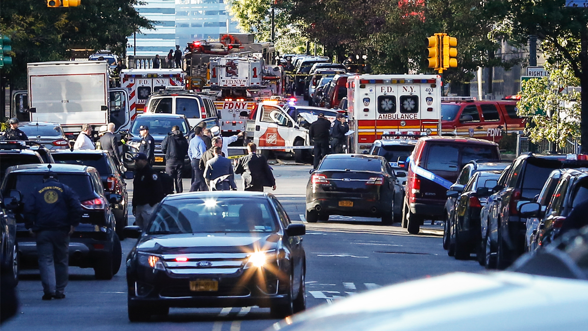 Lugar del atentado en Manhattan, Nueva York. (Foto: AFP)