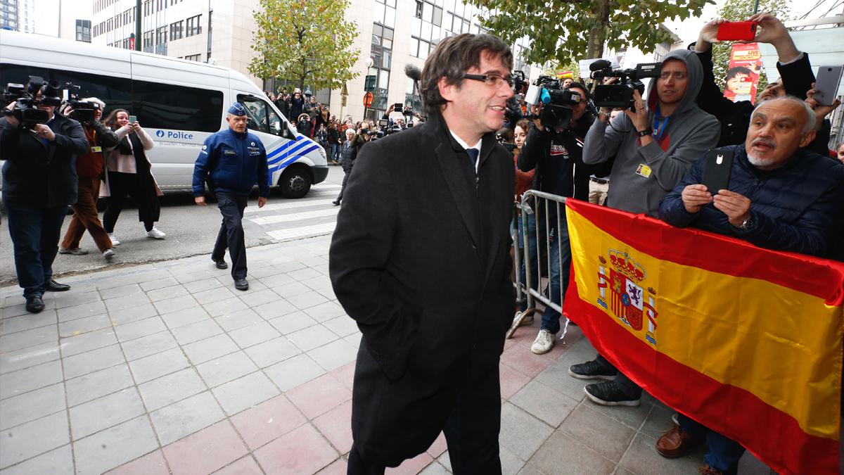 Carles Puigdemont en Bruselas. (Foto: AFP)
