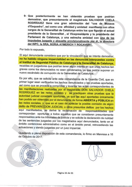 Denuncia por prevaricación contra el juez Chela por la Plataforma de Afectados del ISPC