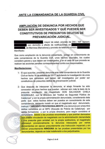 Ampliación de la denuncia contra el juez Chela y el archivo de la causa de Aymerich