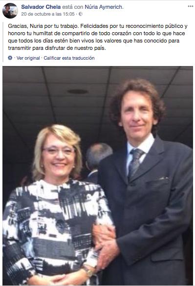 El juez Chela y la exdirectora del ISPC, Núria Aymerich