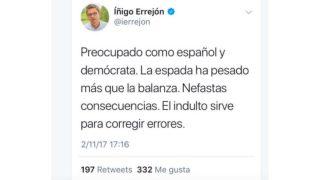 El 'tuit' publicado por Errejón y que después ha eliminado.