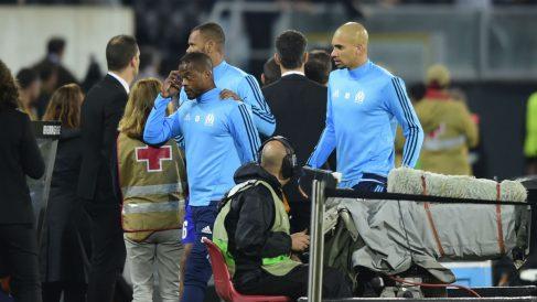 Evra durante un partido del Marsella. (AFP)