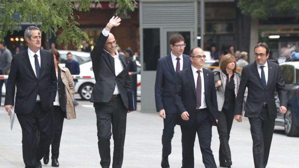 Varios ex consejeros de la Generalitat.