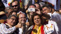 Enric Millo, Miquel Iceta, Dolors Monserrat y Xavier García Albiol se hacen un 'selfie'. (Foto: EFE)