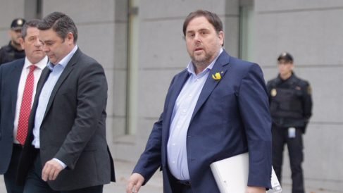 Oriol Junqueras a su llegada a la Audiencia Nacional. (Foto: Francisco Toledo)