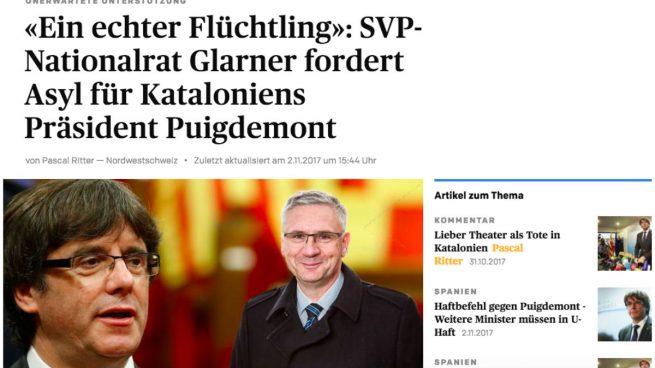Un periódico suizo abre encuesta para ofrecer asilo a Puigdemont y las redes animan a votar en contra