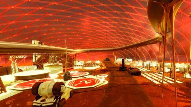 ciudad de Marte