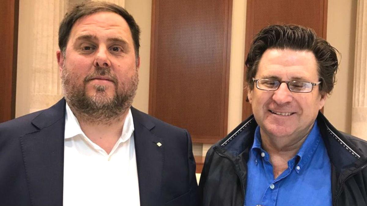 El presidente de la ANA, Pedro Ignacio Altamirano, con Oriol Junqueras (Foto:Twitter)