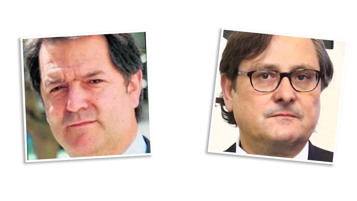 El director del diario ABC, Bieito Rubido, y el director de La Razón, Francisco Marhuenda.