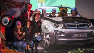 La presentación de la obra sobre movilidad sostenible y conducción ecológica de Blanca Marsillach en colaboración con BMW. Foto: Mateo Liébana