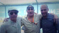 El cantautor Lluís Llach, el terrorista Frederic Bentanachs y el ex entrenador del Barça Pep Guardiola.