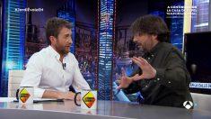 Pablo Motos entrevista a Jordi Évole en 'El Hormiguero' (Antena 3).