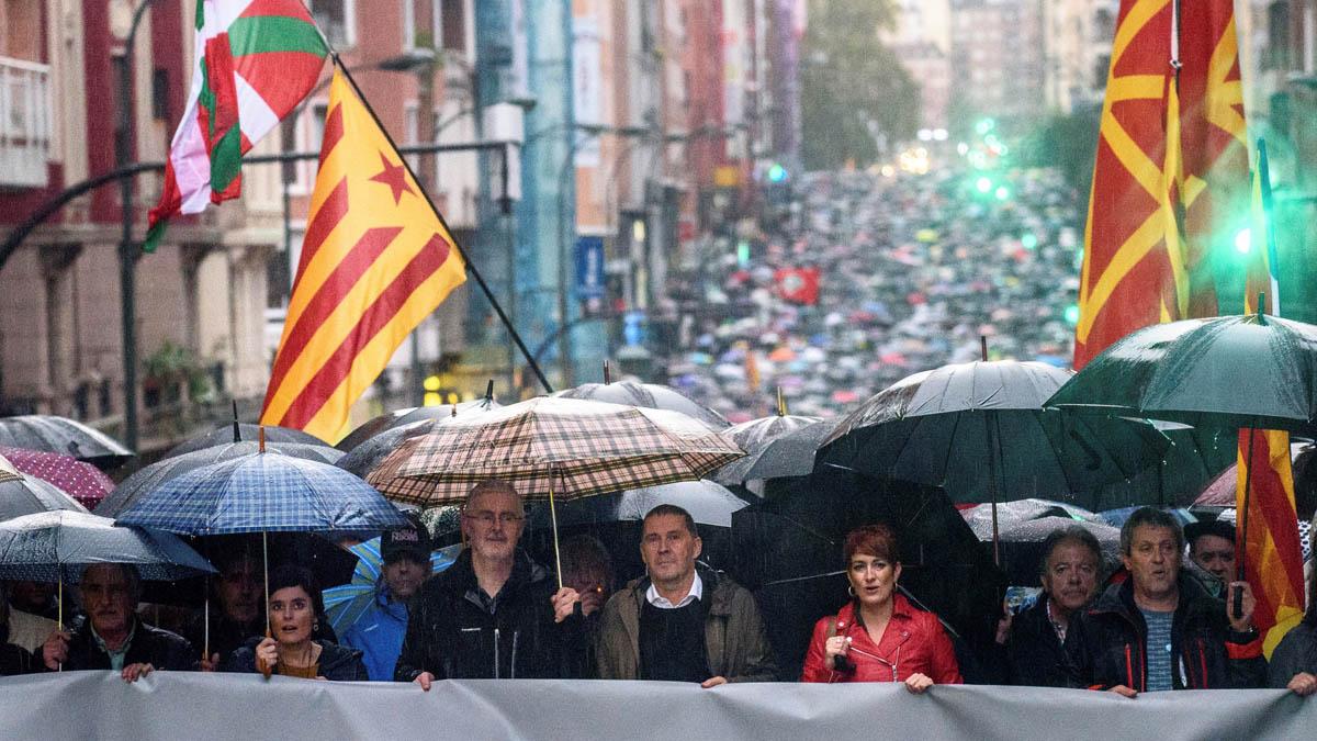 Macha de los proetarras en Bilbao (Foto: EFE)