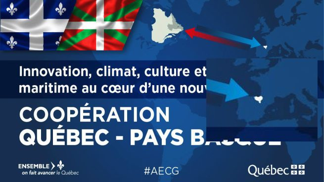 Imagen del acuerdo Quebec-País Vasco.