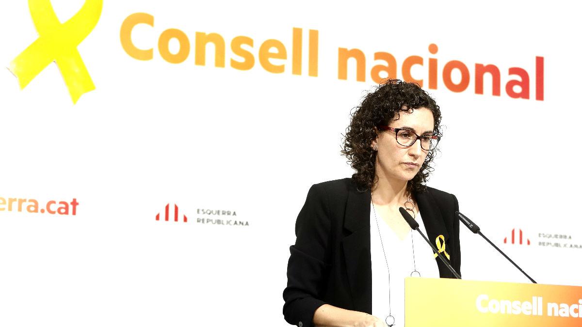 Marta Rovira tras el Consell Nacional de ERC de este sábado (Foto: Efe).