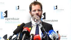 El portavoz de la Fiscalía belga en rueda de prensa (Foto: AFP).